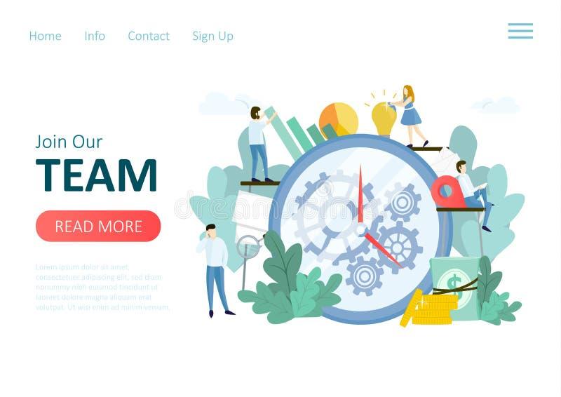 Raadplegend team work royalty-vrije illustratie