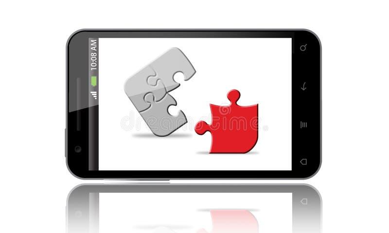 Raadsel App op de Slimme Telefoon vector illustratie