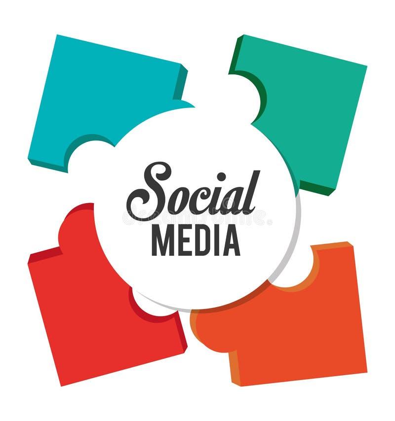 Raadsel en sociaal media ontwerp stock illustratie