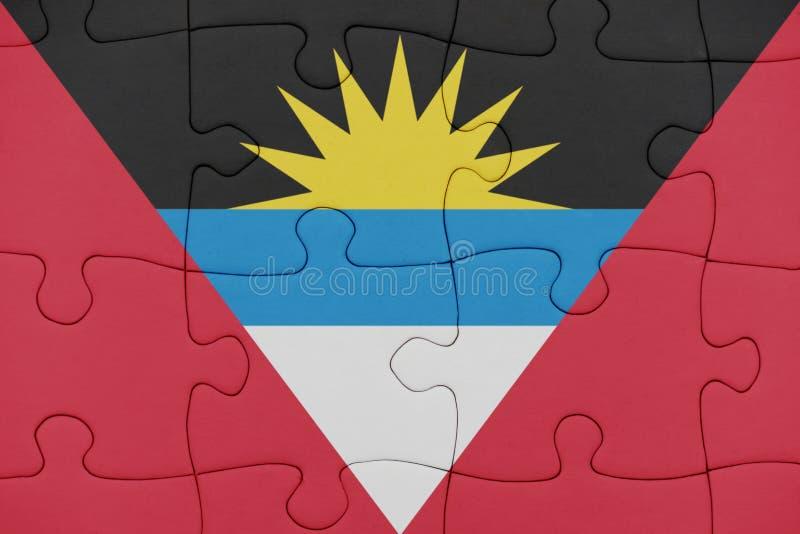 Raadsel met de nationale vlag van antigua en Barbuda royalty-vrije stock foto's
