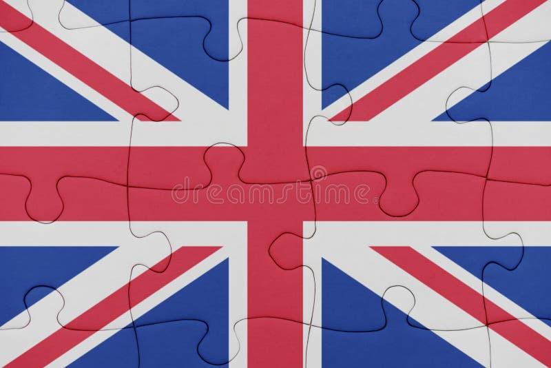 Raadsel met de nationale vlag van Groot-Brittanni? stock afbeelding
