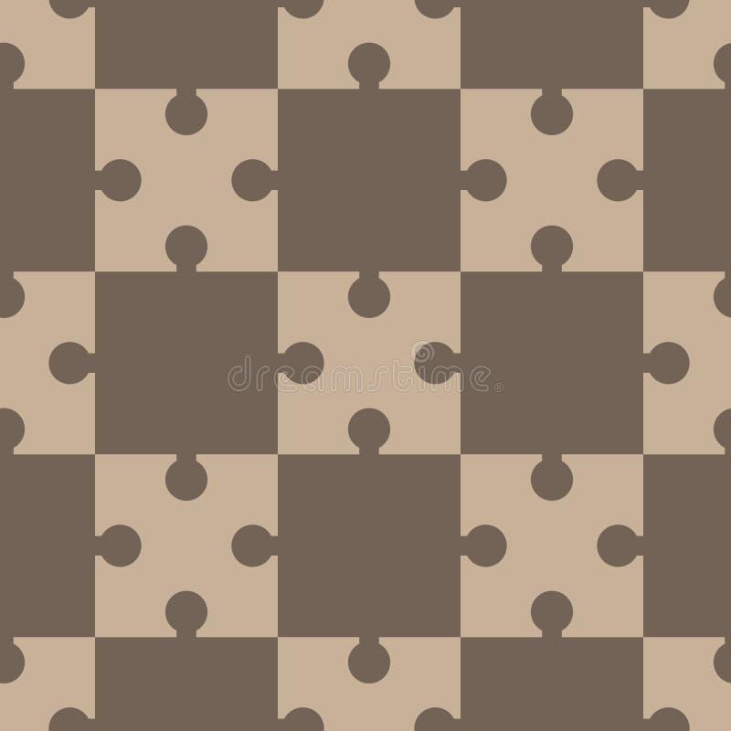 Raadsel, regelmatig naadloos patroon royalty-vrije illustratie
