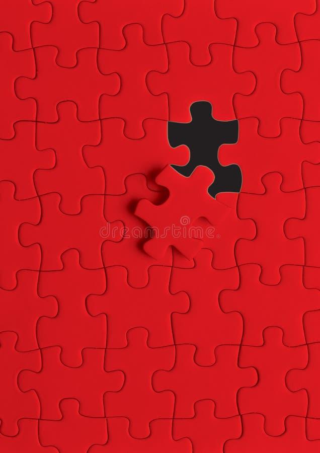 Raadsel in rood royalty-vrije stock afbeelding