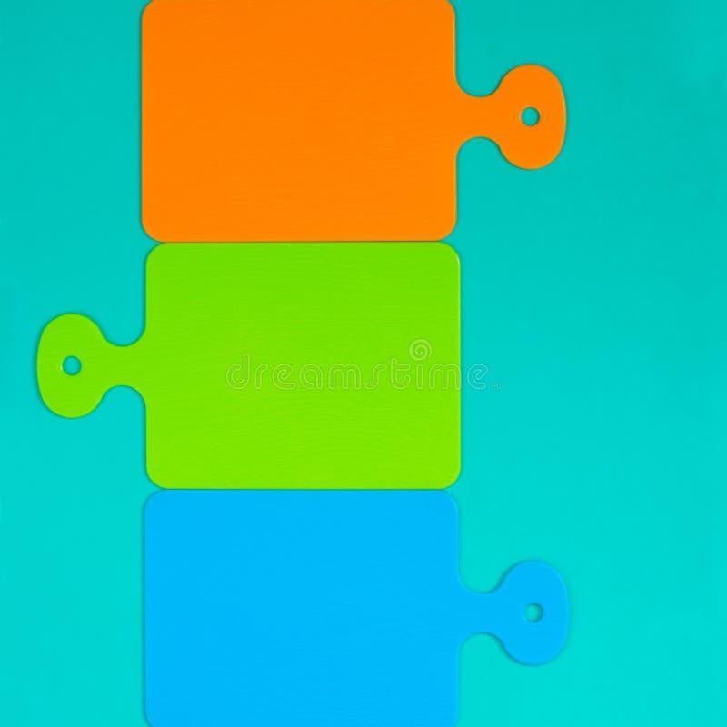 Raadsel van gekleurde scherpe raad Vierkant beeld royalty-vrije stock foto