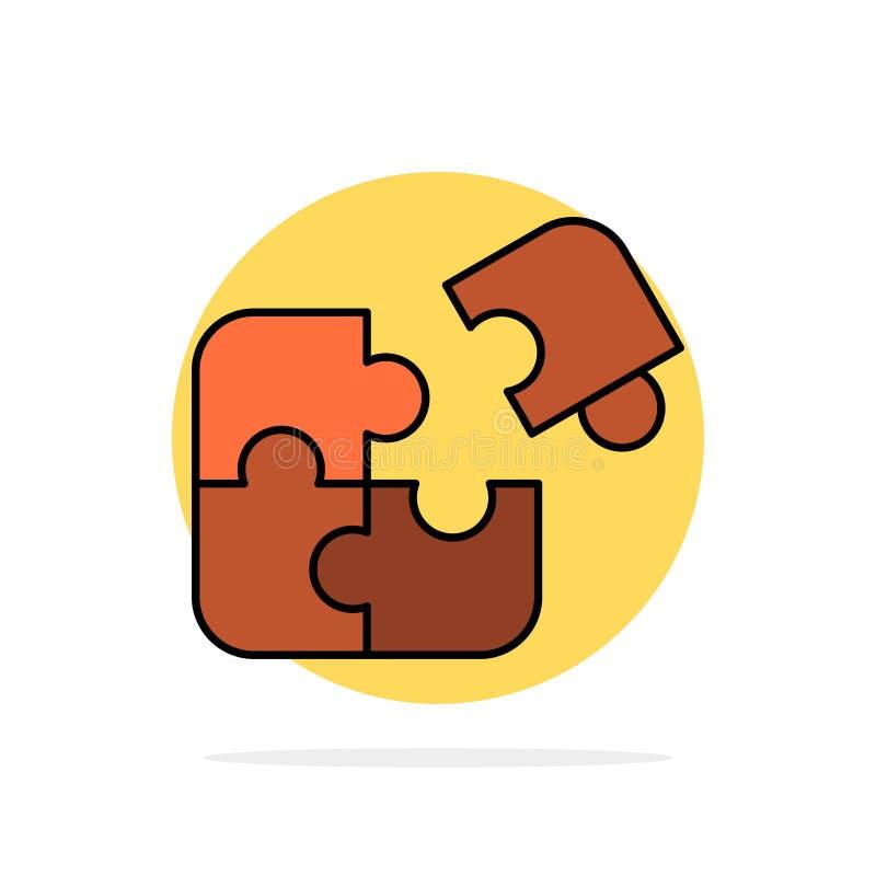 Raadsel, Zaken, Figuurzaag, Gelijke, Stuk, van de Achtergrond succes Abstract Cirkel Vlak kleurenpictogram vector illustratie