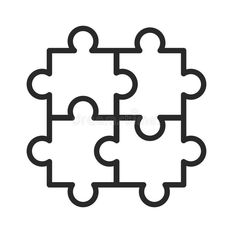 Raadselgelijke, hobby en vermaak zwart pictogram vector illustratie