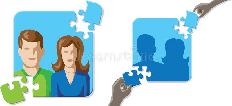 Raadselhuwelijk stock illustratie