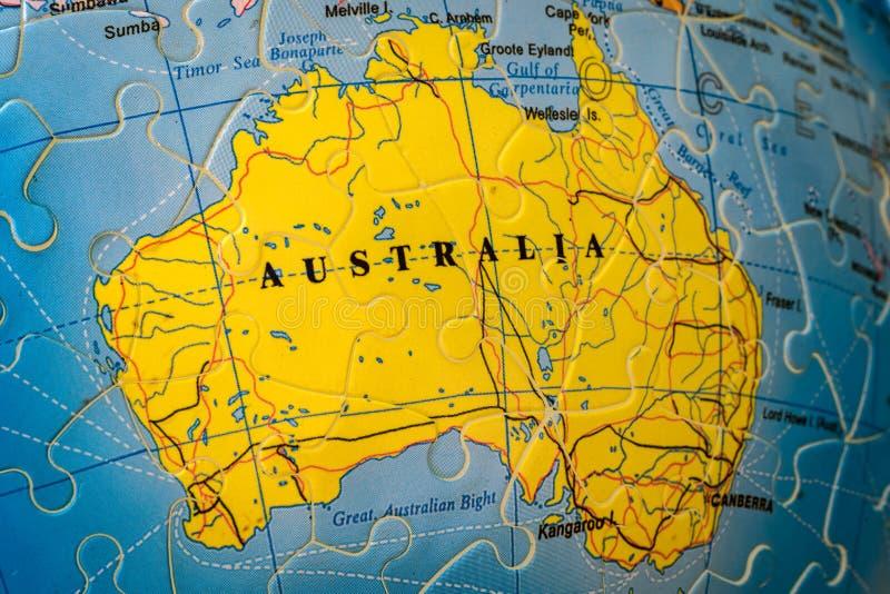 Raadselkaart van Australië stock foto's