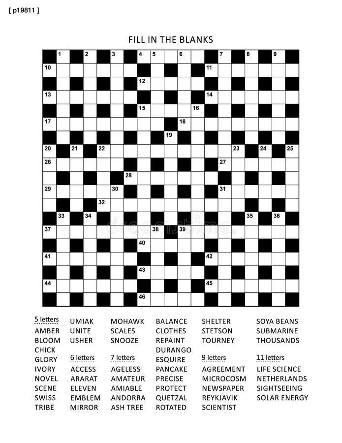 Raadselpagina met netwerk of fiil in rebus royalty-vrije illustratie