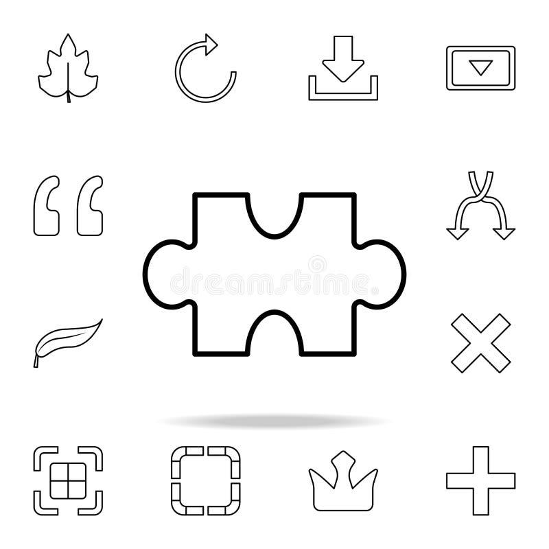 Raadselpictogram Gedetailleerde reeks eenvoudige pictogrammen Premie grafisch ontwerp Één van de inzamelingspictogrammen voor web stock illustratie