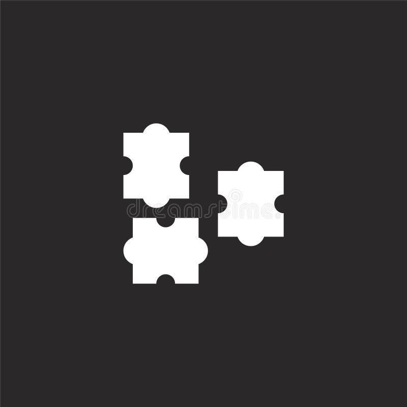 Raadselpictogram Gevuld raadselpictogram voor websiteontwerp en mobiel, app ontwikkeling raadselpictogram van gevulde hobbys en f stock illustratie