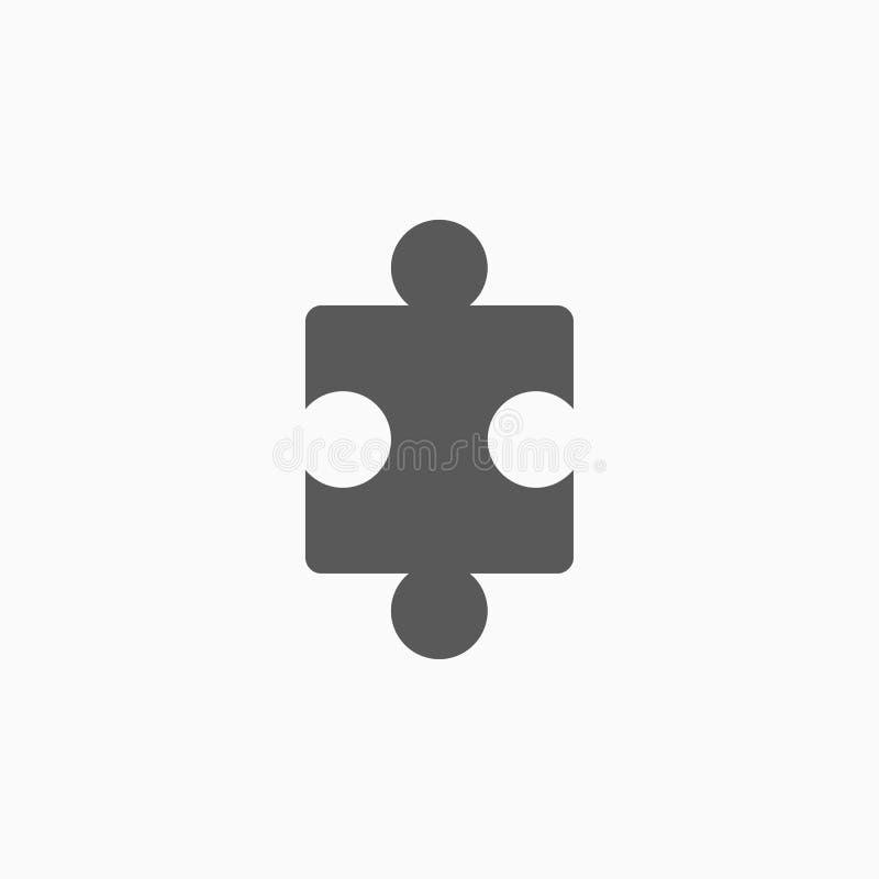 Raadselpictogram, spel, figuurzaag, probleem stock illustratie