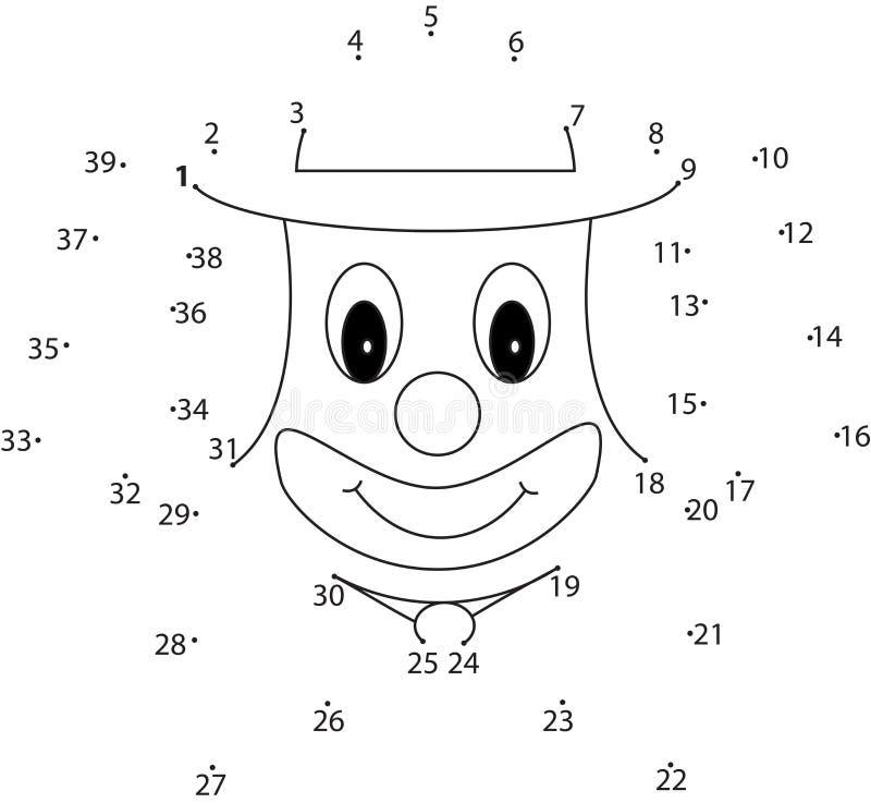 Raadselspel voor jonge geitjes: clown royalty-vrije illustratie