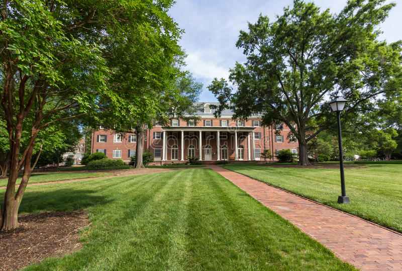 Raadslid Residence Hall in UNC stock foto