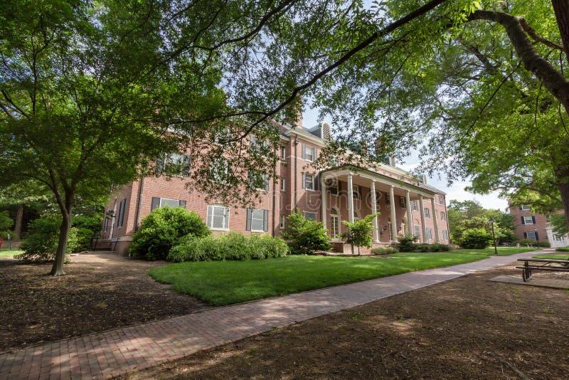 Raadslid Residence Hall in UNC royalty-vrije stock afbeeldingen