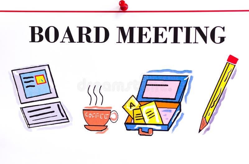 Raadsvergadering royalty-vrije illustratie