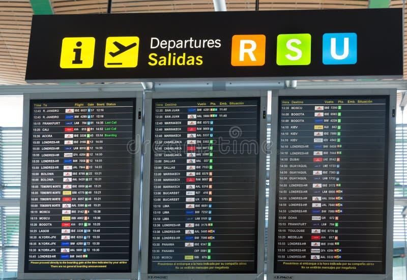 Raadsvertrek in de Luchthaven van Madrid Barajas royalty-vrije stock fotografie