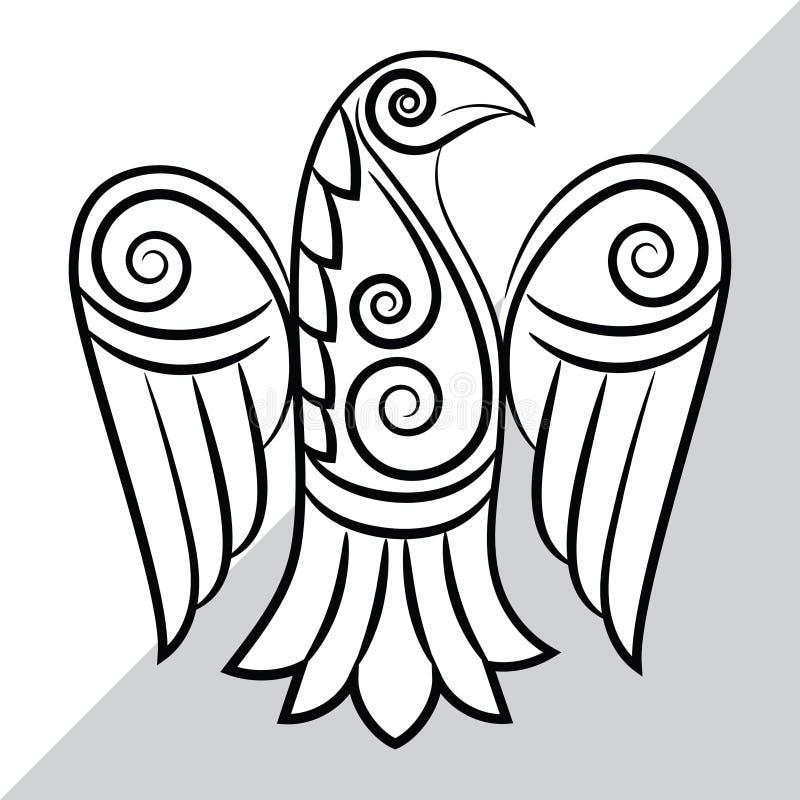 Raaf in Keltische, Skandinavische stijl vector illustratie