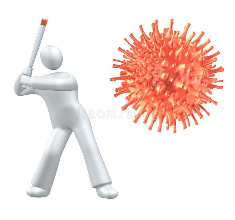 Raak het virus royalty-vrije illustratie