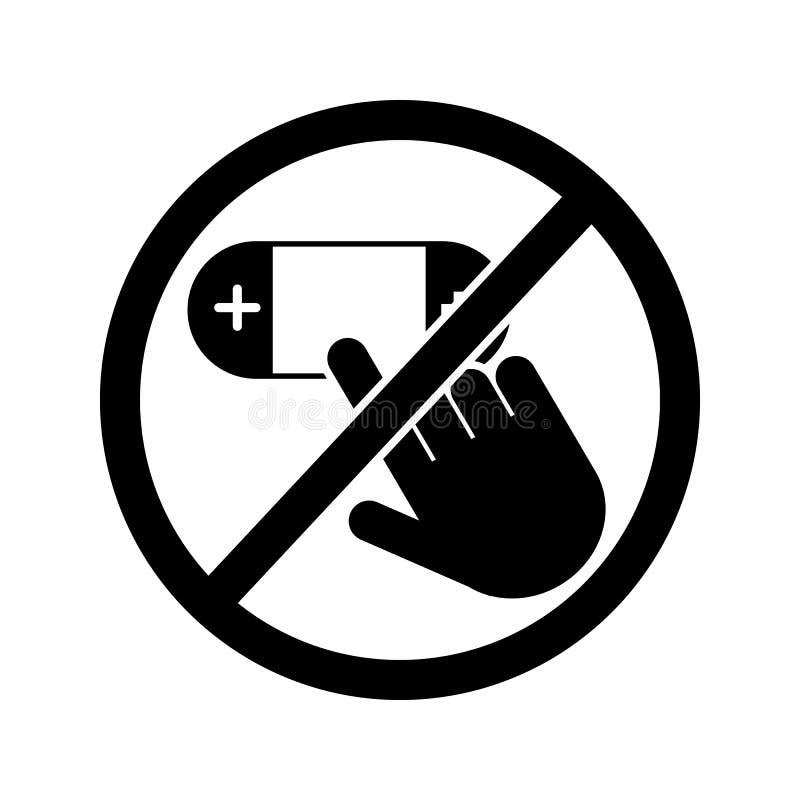 raak niet, het pictogram van de spelconsole Element van het pictogram van het verbodsteken Grafisch het ontwerppictogram van de p vector illustratie