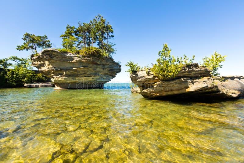 Raaprots op Meer Huron, dichtbij Haven Austin Michigan royalty-vrije stock fotografie