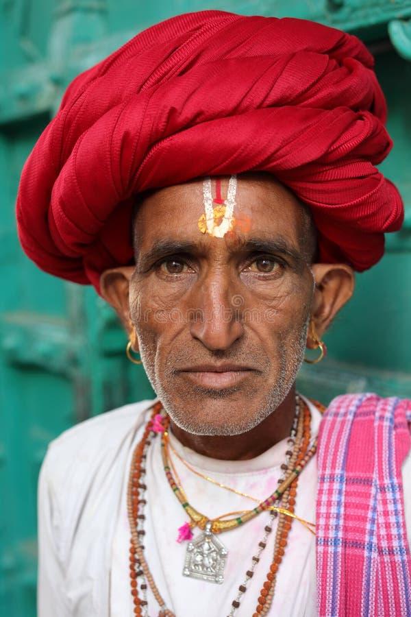 Rabari-Pilger an der Pushkar-Kamel-Messe, Indien stockfoto
