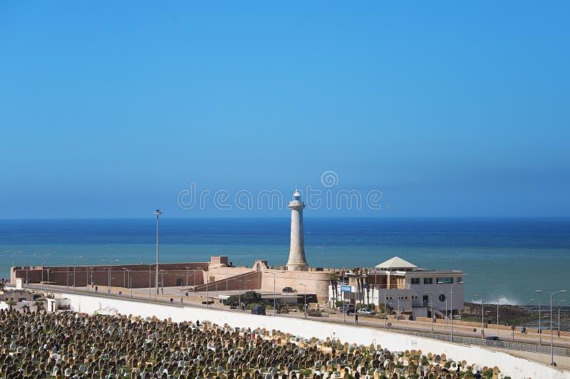 Rabat latarnia morska zdjęcie royalty free