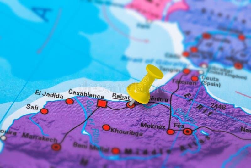 Rabat Morocco map royalty free stock images
