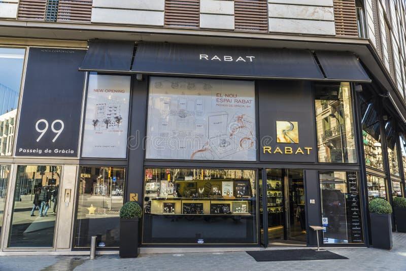 Rabat shoppar, Barcelona royaltyfria foton