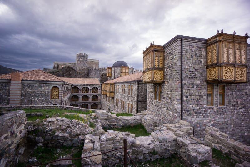 Rabati fortress oriental buildings. Traveling in caucasus beautiful Georgia rabati fortress oriental buildings royalty free stock image