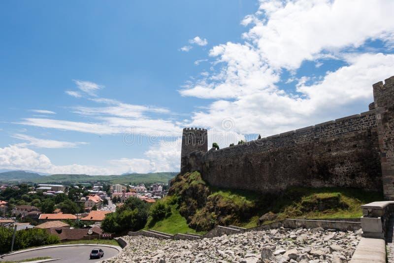Rabati medeltida slott i Akhaltsikhe, Georgien royaltyfri foto
