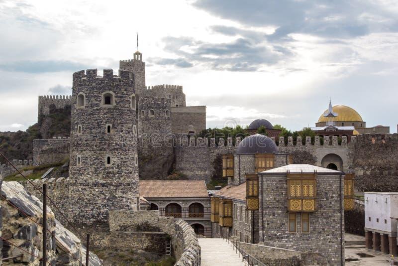 Rabati slott, Akhaltsikhe, Georgia fotografering för bildbyråer