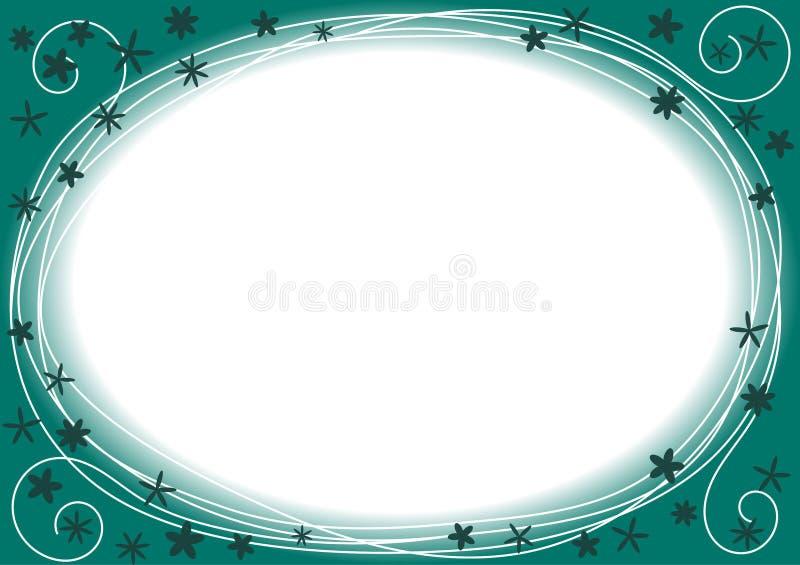Rabatowa rama z błękit i zieleni okręgami royalty ilustracja