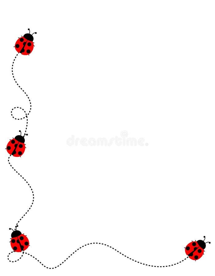 rabatowa ramowa biedronka ilustracji