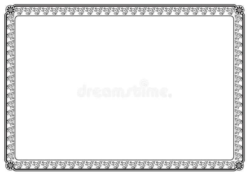 Download Rabatowa strona ilustracji. Obraz złożonej z linia, dekoracyjny - 20903928