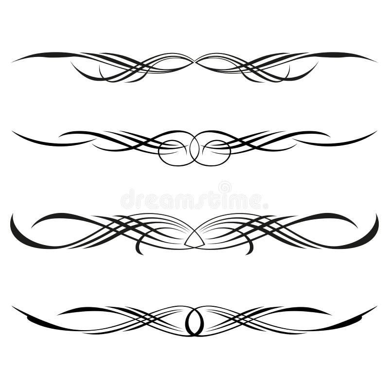 rabatowe dekoracyjne elementów strony reguły royalty ilustracja