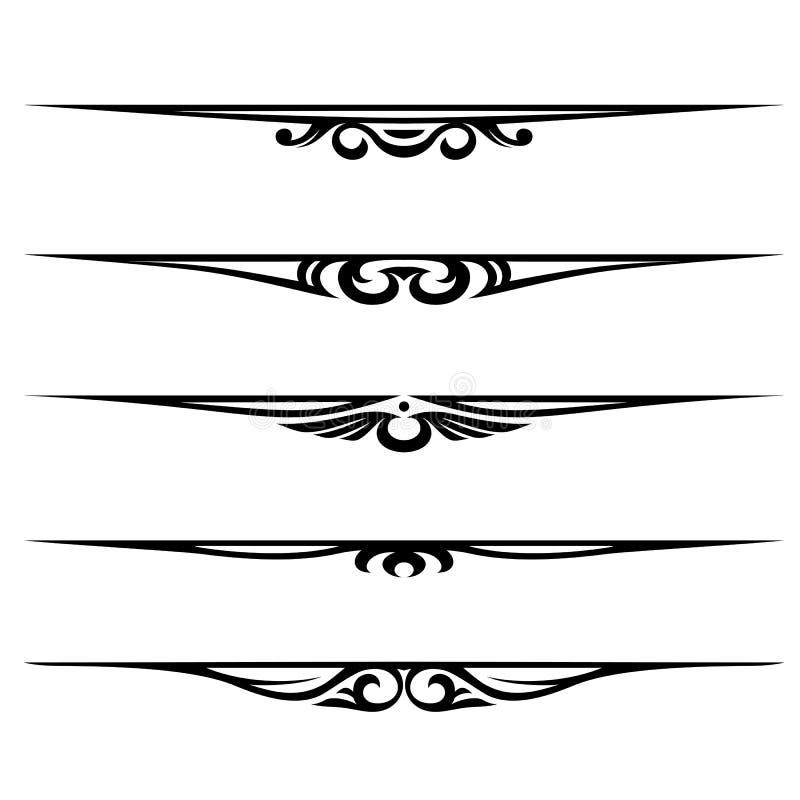 rabatowe dekoracyjne elementów strony reguły ilustracji