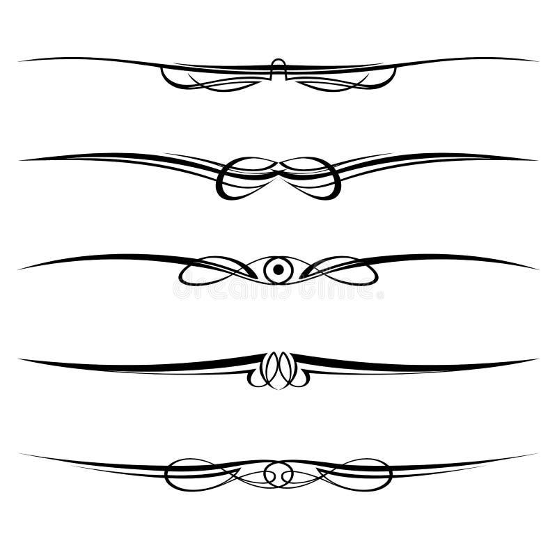 rabatowe dekoracyjne elementów strony reguły ilustracja wektor