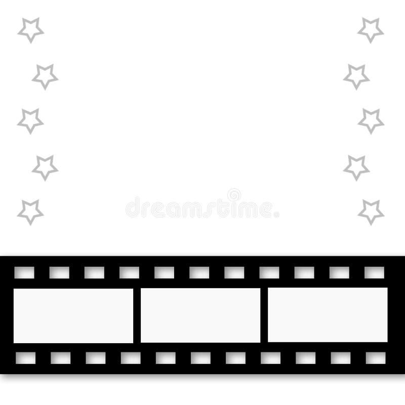 rabatowe filmstrip ilustraci gwiazdy ilustracja wektor