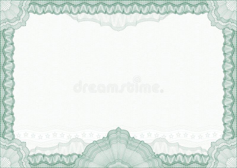 rabatowego świadectwa klasyczny dyplomu guilloche ilustracji