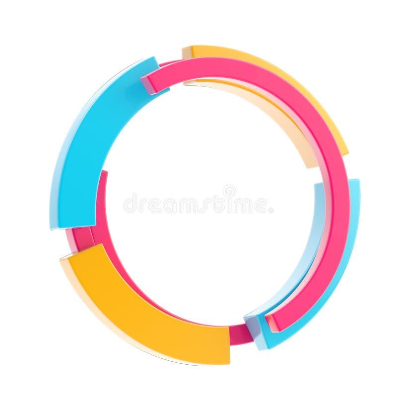 rabatowego okręgu kolorowy ramy stylu techno royalty ilustracja