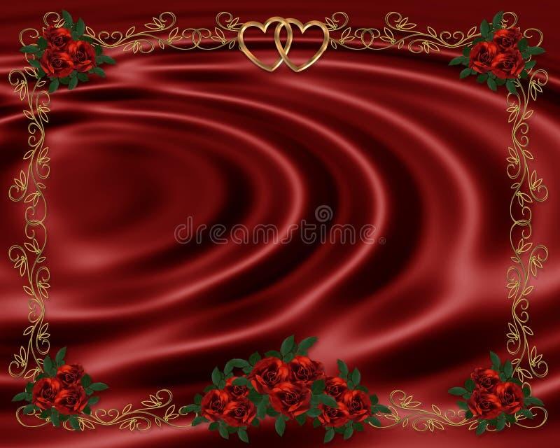 rabatowego zaproszenia czerwony róż target775_1_ ilustracji