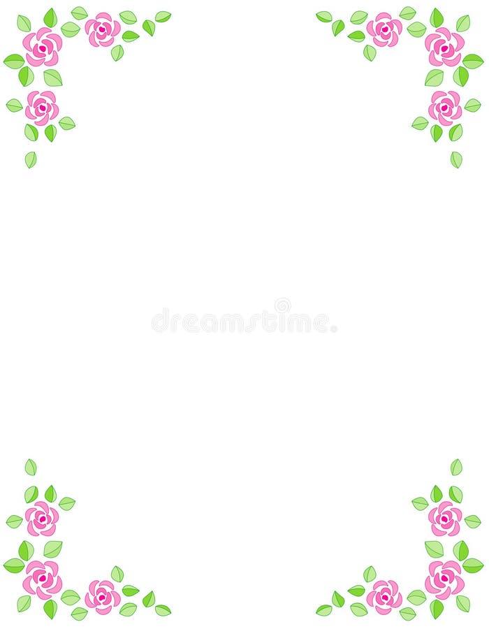 rabatowego zaproszenia różany ślub royalty ilustracja