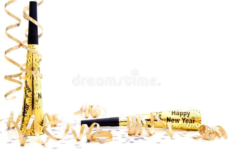 Rabatowej wigilii nowi noisemaker przyjęcia rok