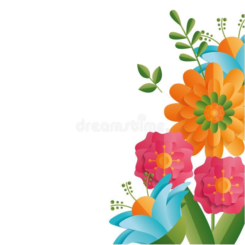 Rabatowi kwieciści kwiaty ilustracji