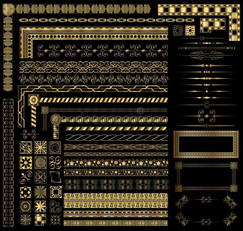 Rabatowi złoto Elementy ilustracja wektor