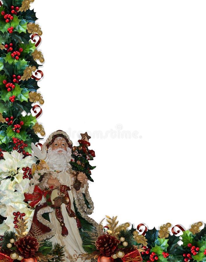 rabatowy bożych narodzeń Santa wiktoriański royalty ilustracja