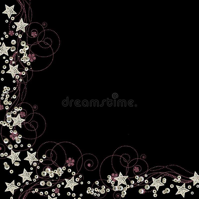 rabatowy cekinów gwiazd wektor ilustracja wektor