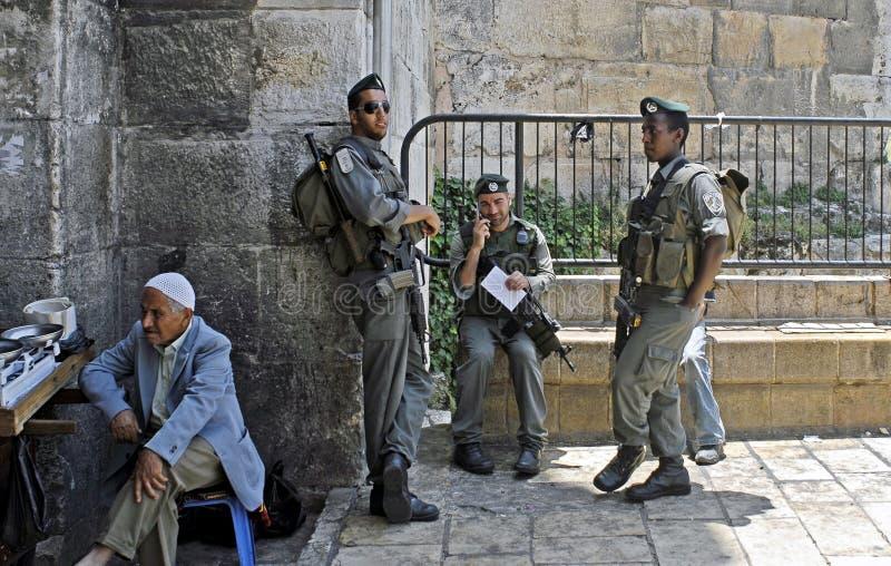 rabatowy Damascus bramy strażnika izraelita Jerusalem fotografia royalty free