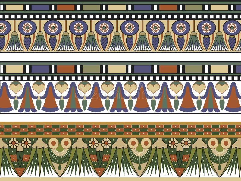 rabatowy egipski set trzy royalty ilustracja